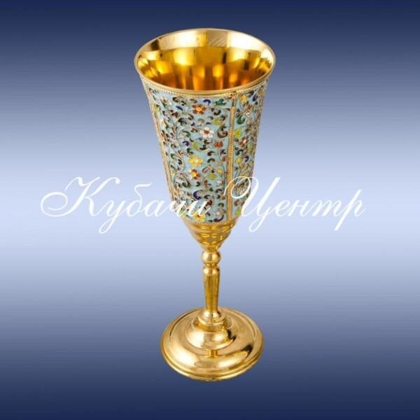 НАБОР ИЗ ДВУХ БОКАЛОВ НА ПОДНОСЕ СЕРИЯ «БИРЮЗА»