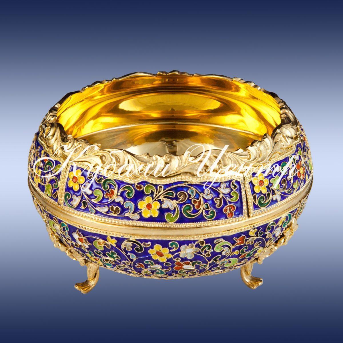 Серебряные вазы для мёда и варенья
