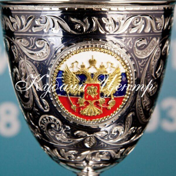 """6 БОКАЛОВ НА 310 МЛ С ХОЛОДНОЙ ЭМАЛЬЮ """"РОССИЯ"""""""